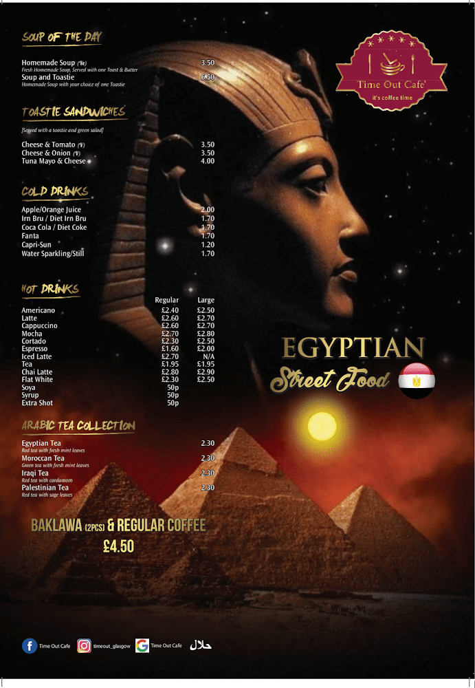 Egyptian street food cafe in Glasgow.