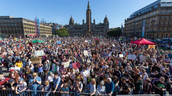 George square crowds