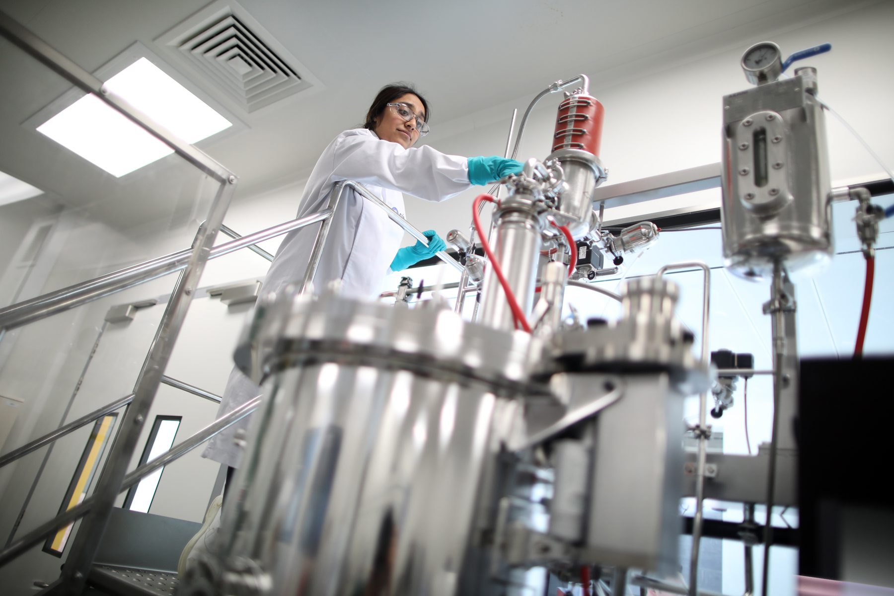 Scientist working at CPI's National Biologics Manufacturing Centre