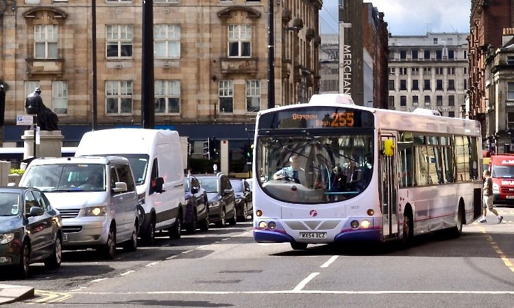 First-Bus-operating-in-Glasgow
