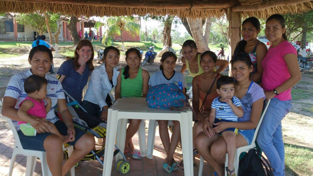 Rachel with some of the childrne and fmailies Bolivia that she's helped