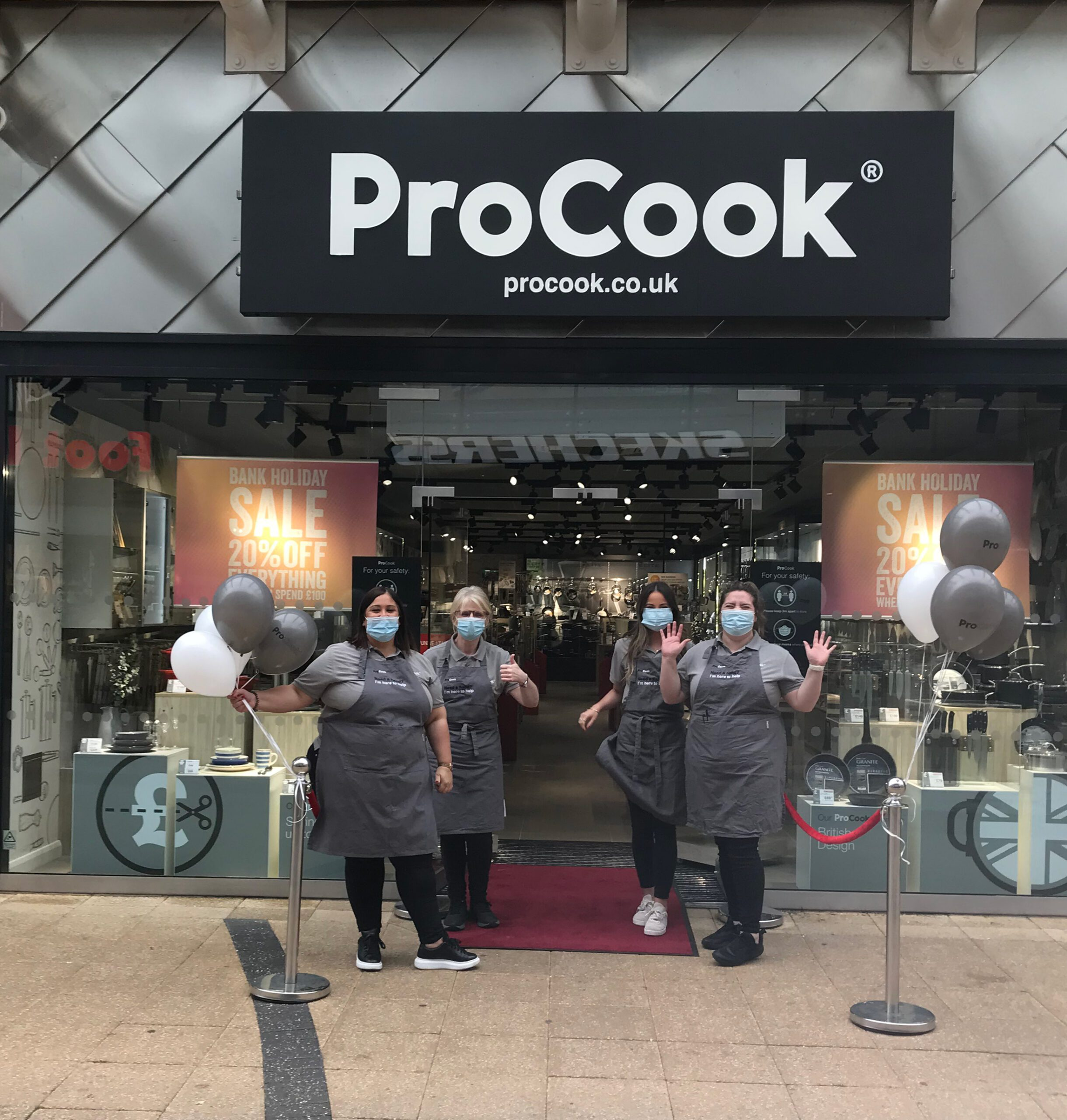 ProCook staff outside new Glasgow Fort store 2